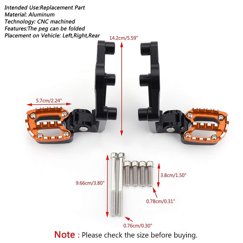 poggiapiedi pieghevoli pedali posteriori per X ADV X-ADV 750 17-18 Areyourshop