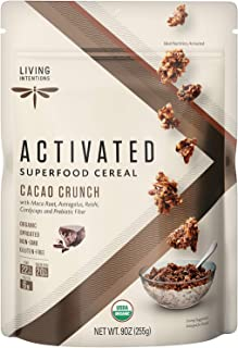 product image for Living Intentions Organic Superfood Cereal – Cacao Crunch – NonGMO – Gluten Free – Vegan – Kosher – 9 Ounce Unit (1 Pack)