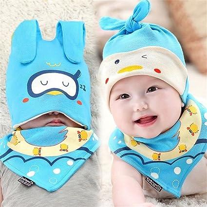 6f02c708cf0 Amazon.com  UNKE Baby Toddler Infant Hat Bib Set Triangle Saliva Towel  Cotton Head Scarf Cap  Musical Instruments