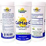 Sunshine Vitamins Calcium Magnesium Vitamin C - Instant Cal Mag C - You may Sleep Better - Feel Less Stress - Feel Calm and Relaxed - for Super Fast Absorption To Blood Muscles & Bones