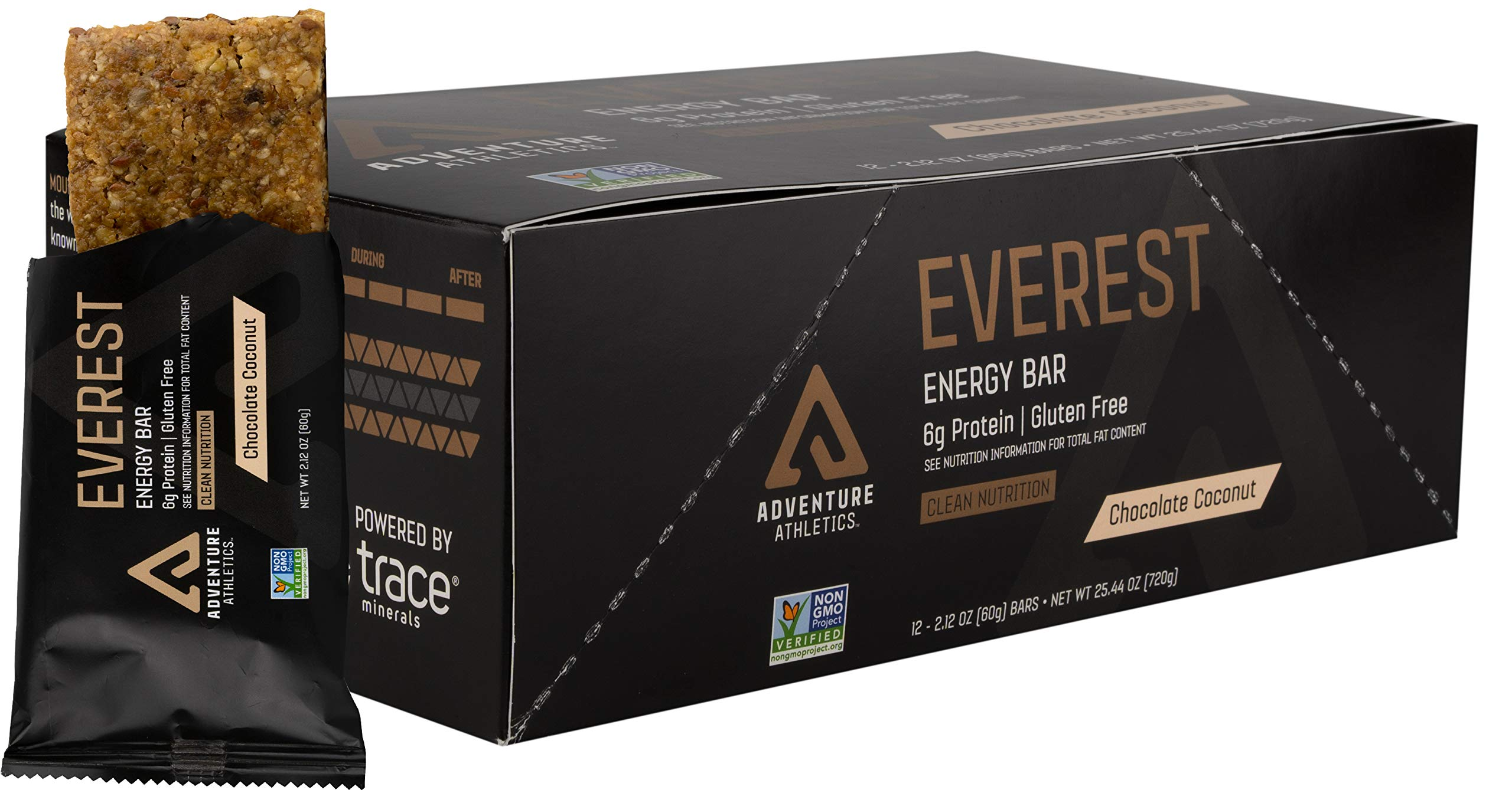 Everest Energy Bar Chocolate Coconut 12 Bars by Adventure Athletics