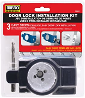 MIBRO 300691 Bi-Metal Door Lock and Deadbolt Installation Kit for Wood and Metal Doors