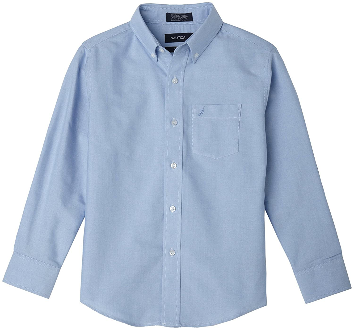 Amazon Nautica Boys Big Solid Long Sleeve Button Down Shirt
