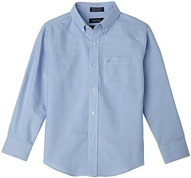 acf5fe87a66e Amazon.com  Nautica Boys  Solid Long-Sleeve Button-Down Shirt  Clothing