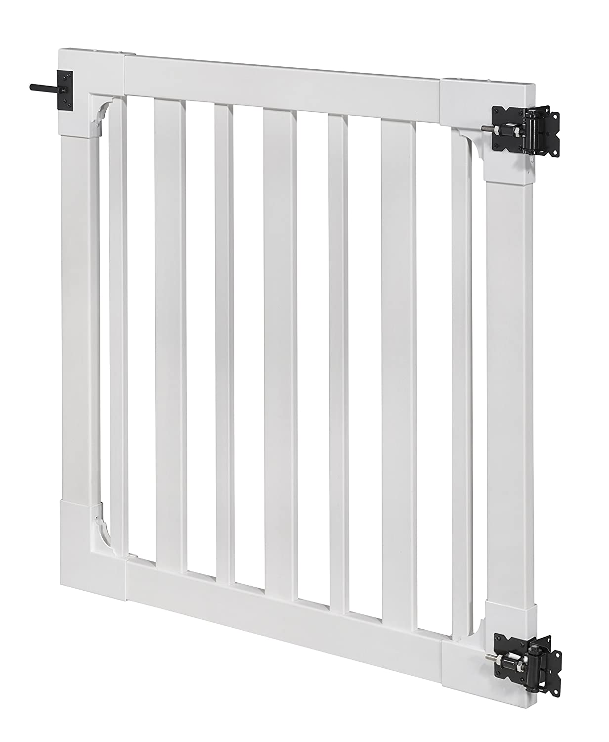 Pack 3- 48 High by 48 Wide WamBam Sturbridge Vinyl Yard and Pool Gate with Hardware