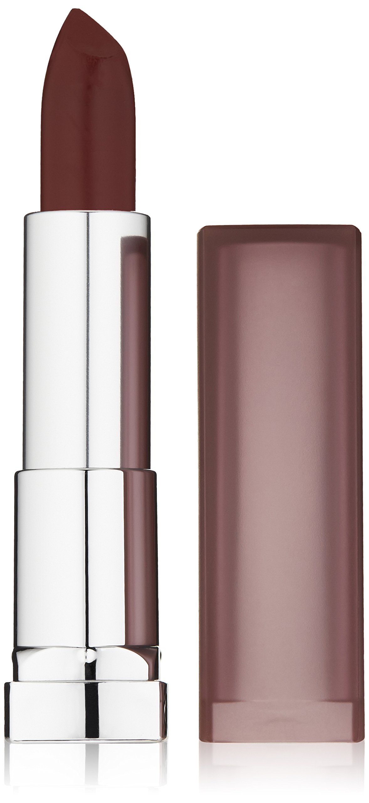 Burgundy Matte Stiletto Nails With Glossy Tips: New Maybelline Color Sensational Creamy Matte Lipstick