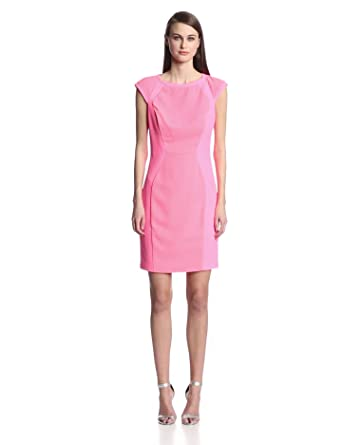 Ted Baker Women's Jineen Panel Dress, Bright Pink, 0
