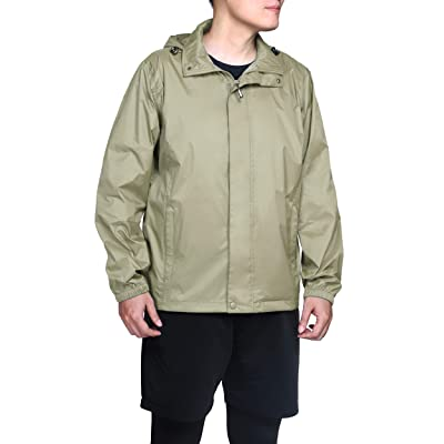 33, 000ft Packable Rain Jacket Men's Lightweight Waterproof Raincoat with Stowaway Hood Active Outdoor Windbreaker at Amazon Men's Clothing store
