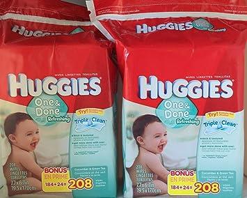 Huggies, One & Done Refreshing Wipes, Cucumber & Green Tea - 208 Ea,