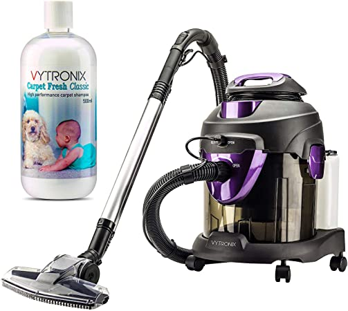 VYTRONIX TUB1600 Multifunction 1600W 4 in 1 Wet & Dry Vacuum Cleaner & Carpet Washer With Blower Function: Amazon.co.uk: Kitchen & Home