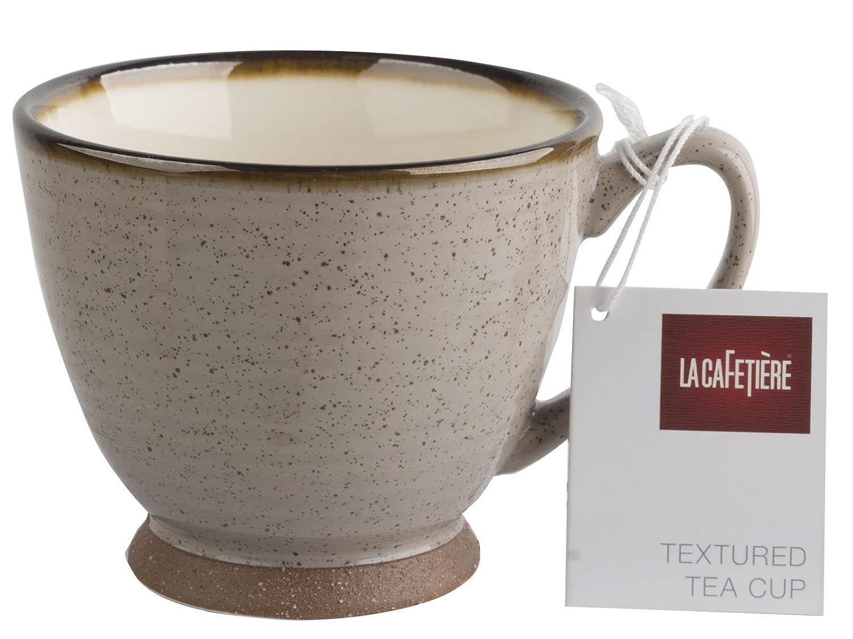 250 ml 9 fl oz La Cafeti/ère Small Textured Teacup Brown