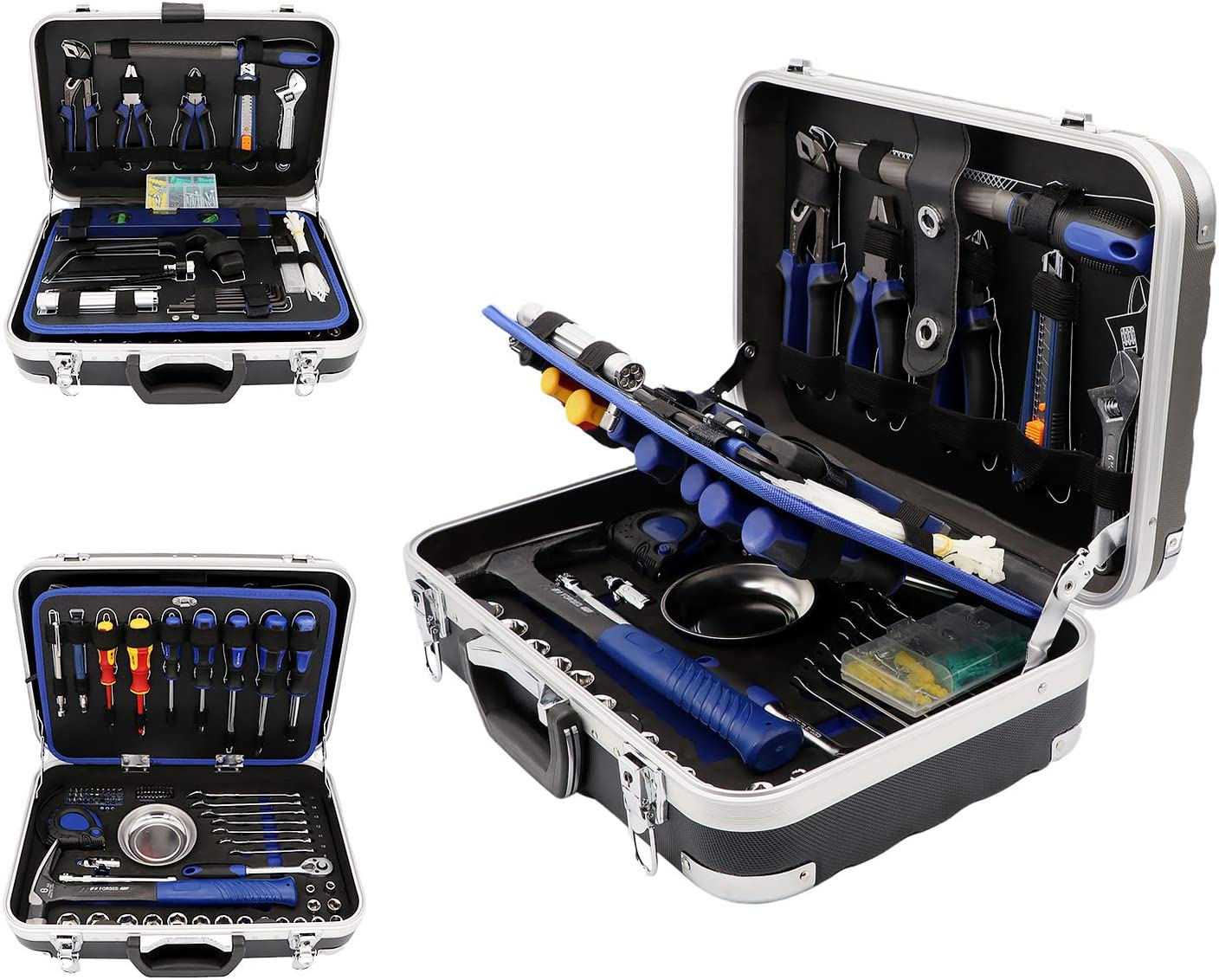 192-Piece Household Tool Kit - GETUHAND Premium Home Repair Tool Set, General Hand Tool Kit Mixed Tool Set with Heavy Duty Aluminum Hard Case
