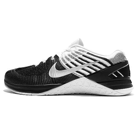 newest 7bac3 fb51b Zapatillas Nike Metcon Xds Flyknit Sz 10 para hombre, negro   blanco  metš¢lico, con entrenamiento cruzado  Amazon.es  Zapatos y complementos