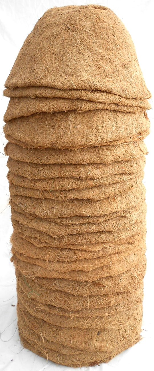 16'' Hand Formed Hanging Basket Coco Fiber Liner (C419L-25) with Water Retainer Pack of 25 Liners