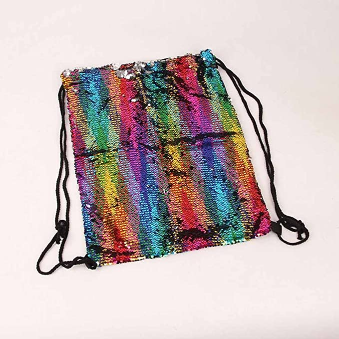 Amazon.com: Fashion UniSequins Drawstring Bag Casual Multicolor Color Backpack for Girls Womens Travel Softback Ruskback Bolsas: Kitchen & Dining