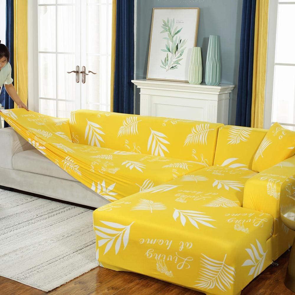 YUTJK Lavable Cubre Sofá,Formo la Funda elástica del sofá,la Funda elástica del sofá,Las Fundas Impresas con Todo Incluido para el sillón,el Protector del sofá de la Esquina-B_1_Seater/Chair