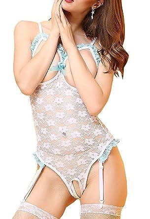 63218d971 Deargirl Women Chemise Sleepwear Cutout Lace Babydoll Lingerie (One Size