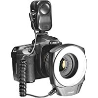 Neewer 48 Marco LED Ring Light with 6 Adapter Rings for Macro Canon/Nikon/Sony/Sigma/Tamron Lens