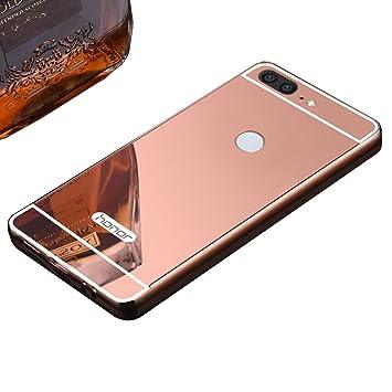 LXHGrowH Funda Huawei Honor 9 Lite, Espejo Aluminio Metal ...