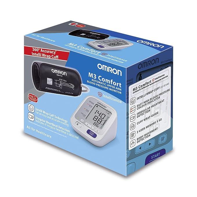 OMRON M3 Comfort - Tensiómetro de brazo, tecnología Intelli Wrap Cuff lo que permite obtener resultados precisos en cualquier posición alrededor del ...