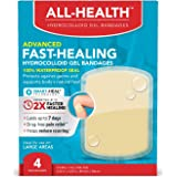 All Health All Health Advanced Fast Healing Hydrocolloid Gel Bandages, Large Wound Dressing, 4 ct | 2X Faster Healing…