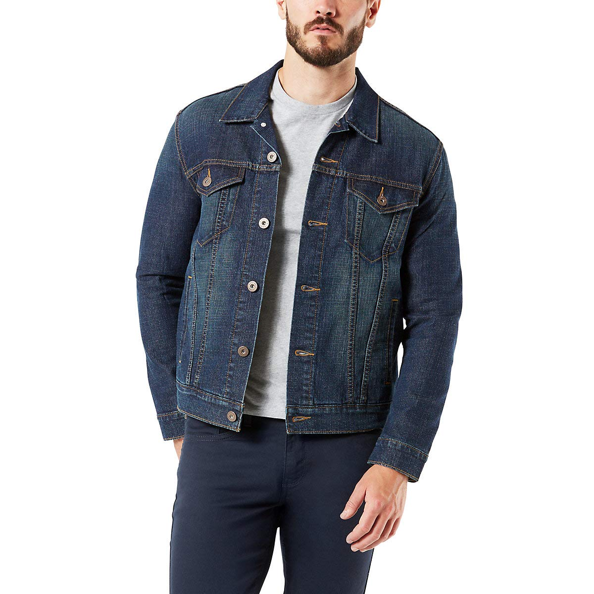 Signature by Levi Strauss & Co Men's Signature Trucker Jacket, Rebel, M by Signature by Levi Strauss & Co. Gold Label
