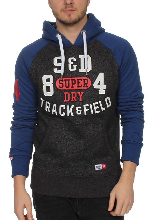 Superdry Herren Sweater Trackster Baseball Blackfieldgrt