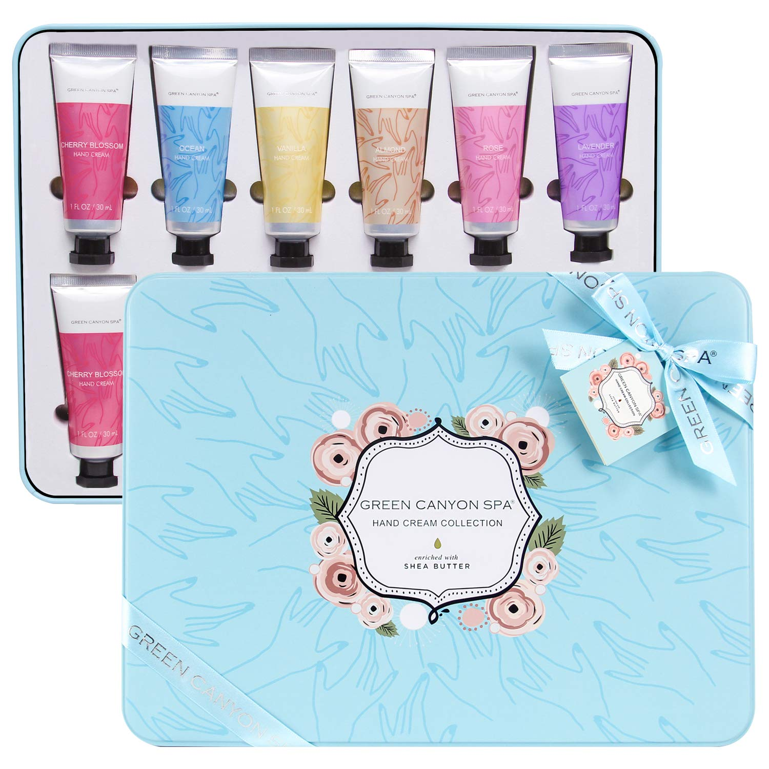 Hand Cream Gift Set, Shea Butter Hand Cream for Women Gift Set, Moisturizing Hand Lotion for Dry Hands Best Birthday/Holiday Gift for Her, Pack of 12 with Travel size, 1.0 oz Tube : Beauty