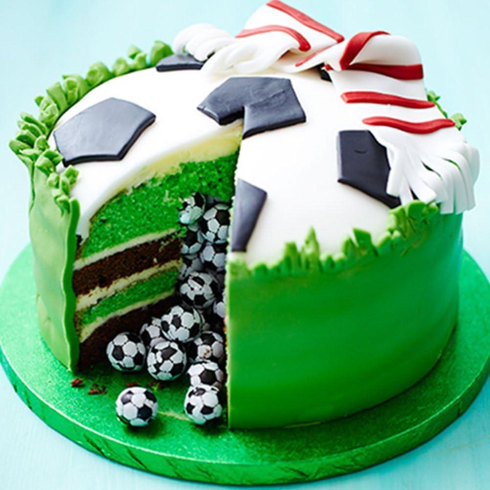torte Bestonzon strumenti per modellare 4 stampi per biscotti a forma di pallone da calcio fondente goffratura decorazioni per pasta di zucchero