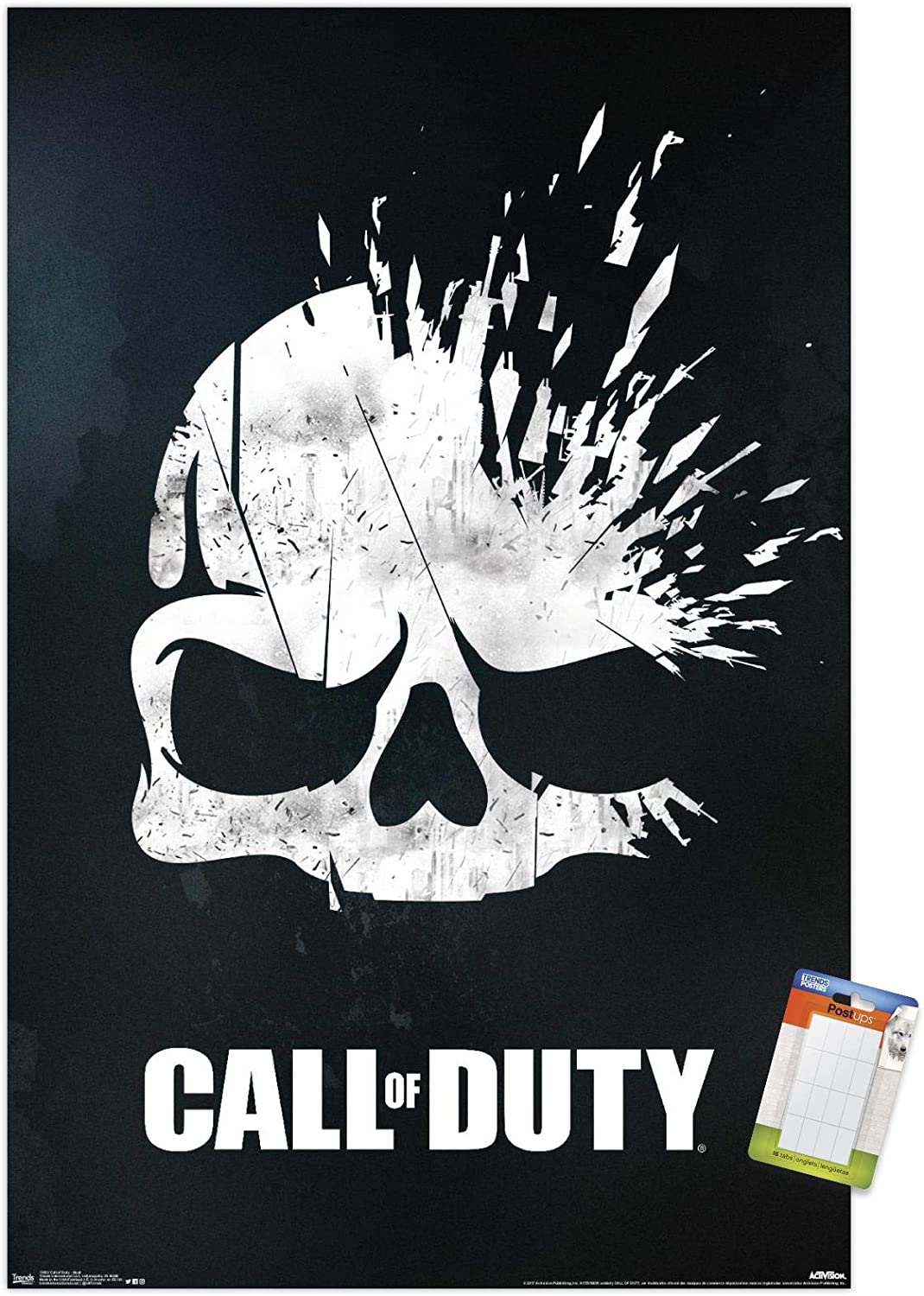 """Trends International Call of Duty - Skull Wall Poster, 22.375"""" x 34"""", Poster & Mount Bundle"""