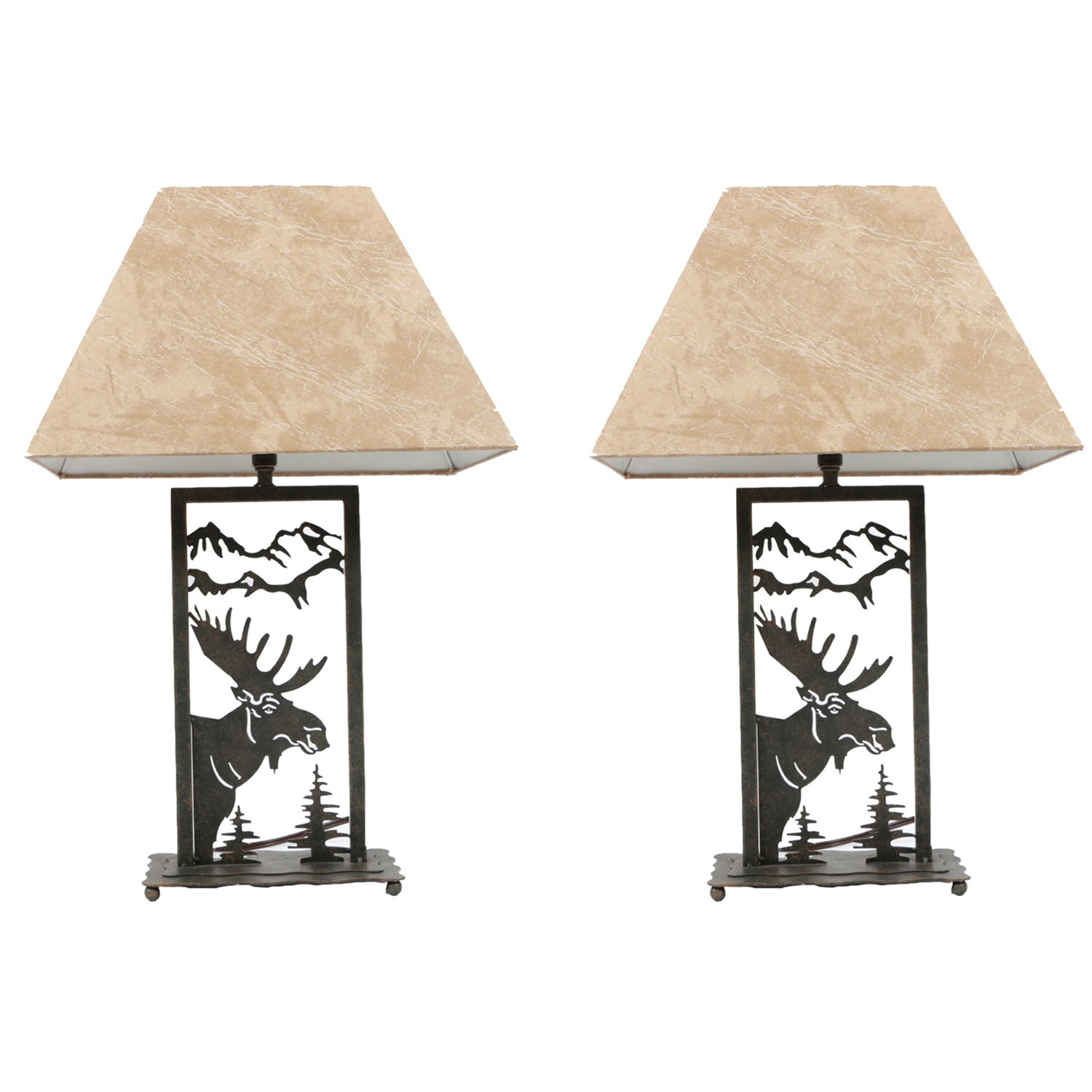 DEI Moose Die-Cut Lamp Set of 2 Décor, Medium, Black
