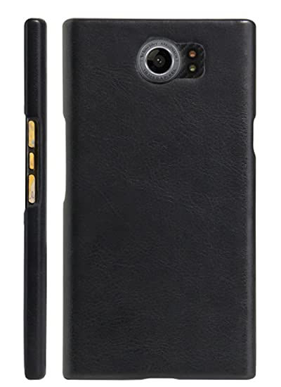 new arrival c8081 f5e19 Fettion BlackBerry Priv Case, [Thin Fit] Ultra Slim Lightweight PU Leather  Phone Case Cover for BlackBerry Priv Smartphone (Leather Cover Black)