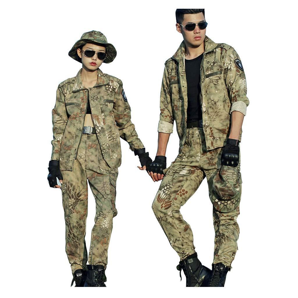 GRZP Einzelne Tarnanzug, Outdoor Python Camo Frühling und Herbst Männer und Frauen wenden Spezialeinheiten Kampfuniformen für Outdoor Jagd Jagd Angeln Camping Abenteuer Reiten (größe : 180)