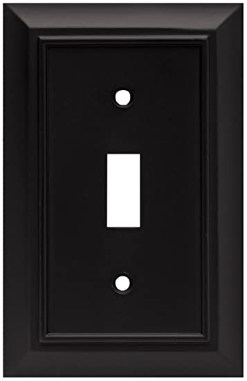 Brainerd 64219 architectural single toggle switch wall plate brainerd 64219 architectural single toggle switch wall plate switch plate cover flat black sciox Gallery