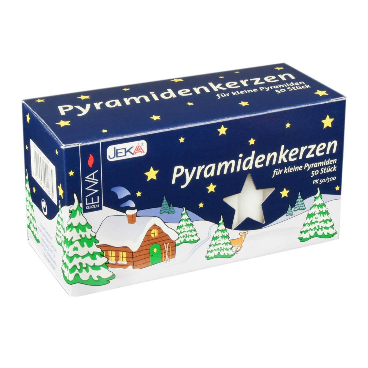 Jeka Kerzen Christmas Pyramid Carousel Candles, Medium 14mm   - White