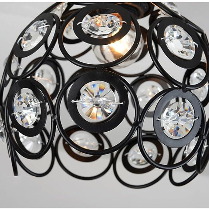 Amerikanischer minimalistischer Gang beleuchtet kreatives modellierendes Decken-Lampen-Hall-Eingangs-Hallen-Kristall-Lampen THANSANDAU Farbe : Schwarz