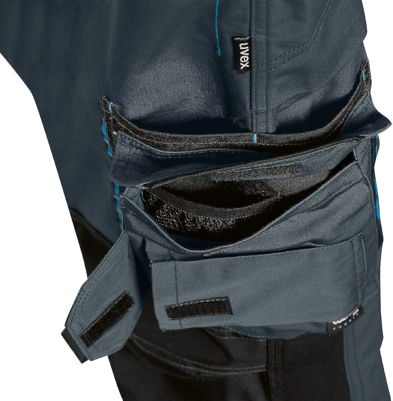 Verde Nero Blu Tasche Cordura Cuscinetti alle Ginocchia Uvex Tune-up 8909 Pantaloni da Lavoro con Velluto Resistente alle Abrasioni Molte Tasche Laterali Grigio