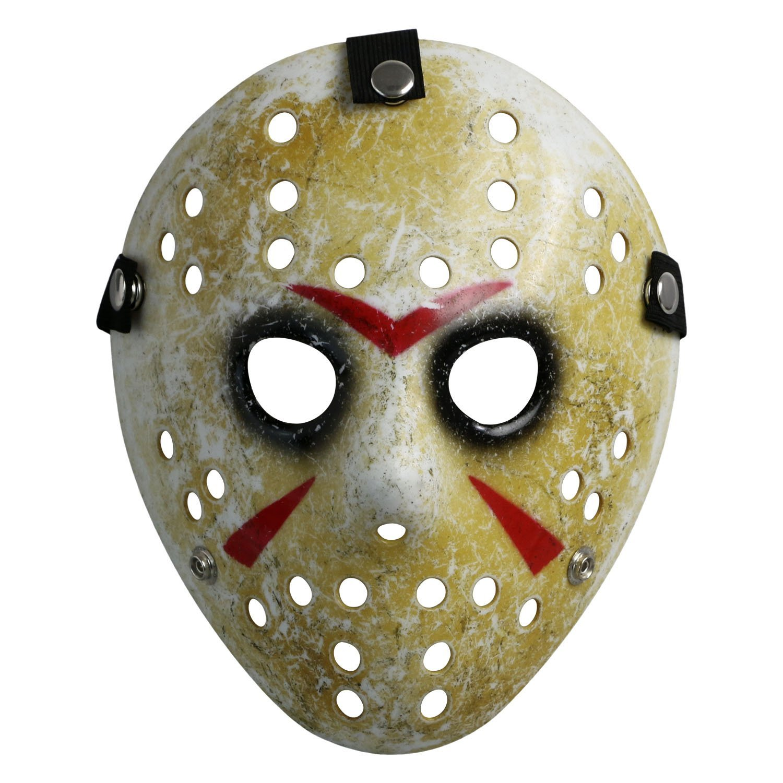 Costume Mask Prop Horror Hockey Halloween Myers (Adult (One Size), Black Eyes) CASACLAUSI
