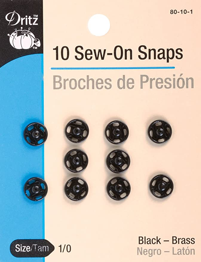 Black Dritz 80-30-1 Sew-On Snaps Size 3//0 12-Count