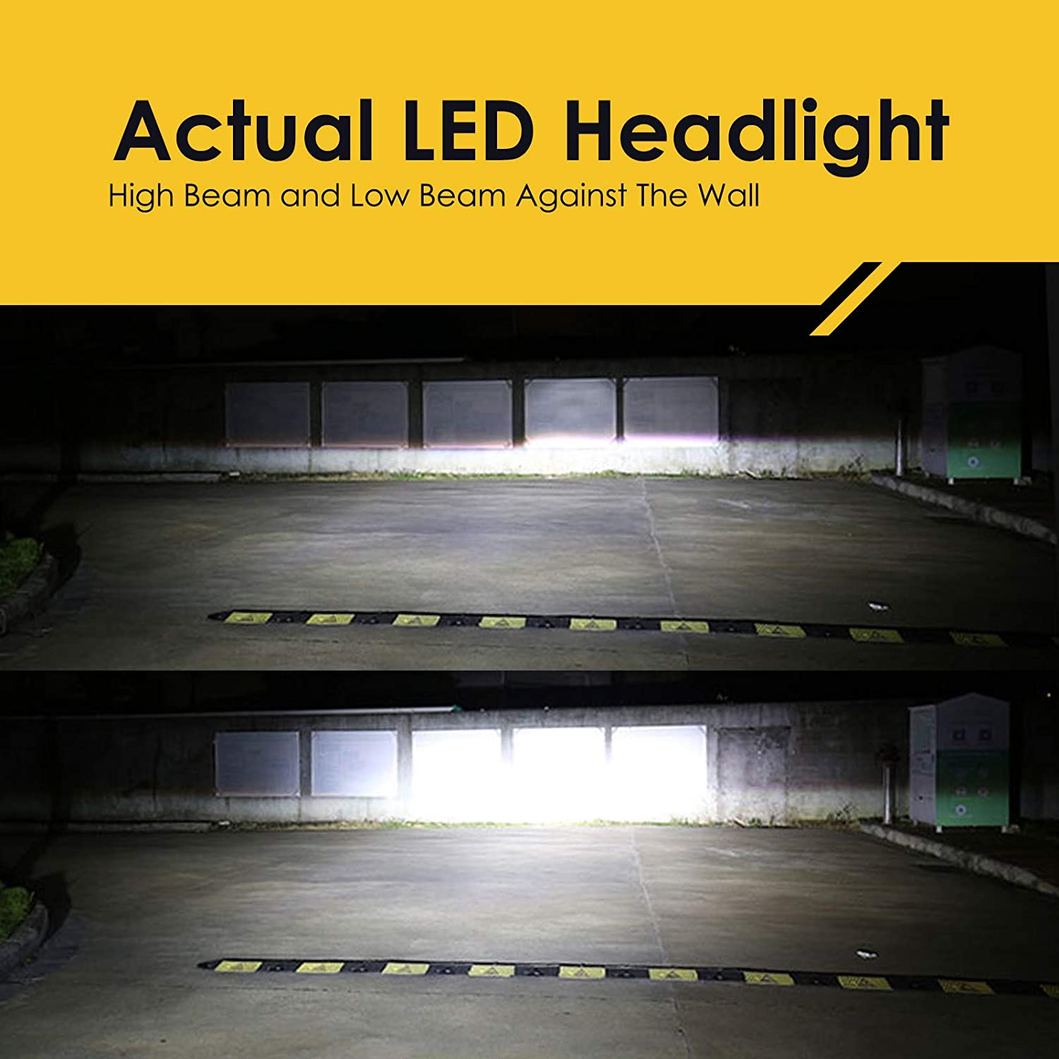 9005 SLR Lighting LED Headlight Bulbs All-in-One with HID FREE EXTRA BACKUP Kit HB3 -7,000Lm 6000K Cool White CREE