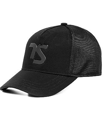 cc2970521c3 Twisted Soul Mens Applique Heat Seal Curve Peak Fashion Baseball Cap Casual  Hat  Amazon.co.uk  Clothing