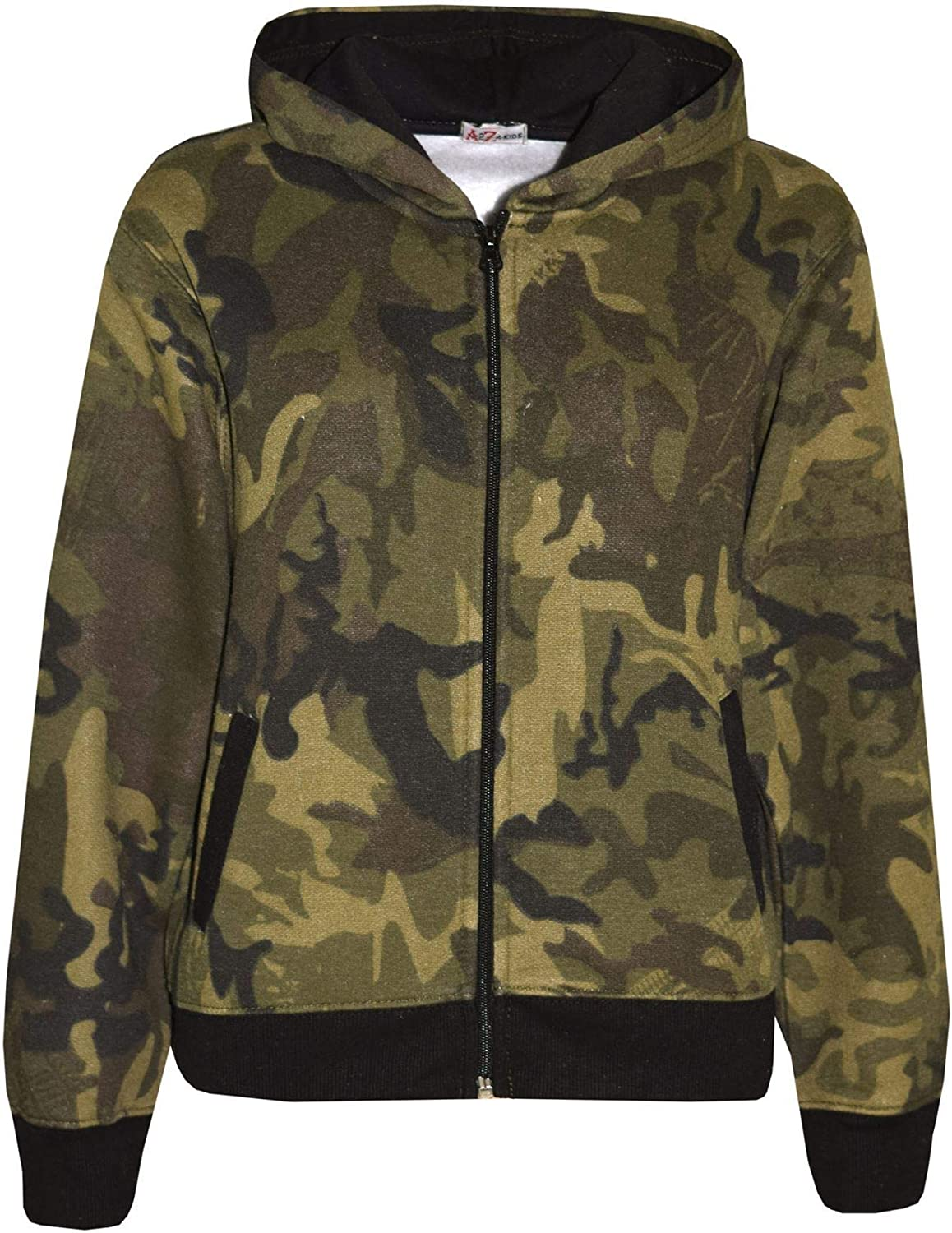 A2Z 4 Kids/® Kids Tracksuit Boys Girls Designers Green Camouflage Print Zipped Top Hoodie /& Botom Jogging Suit Age 5 6 7 8 9 10 11 12 13 Years