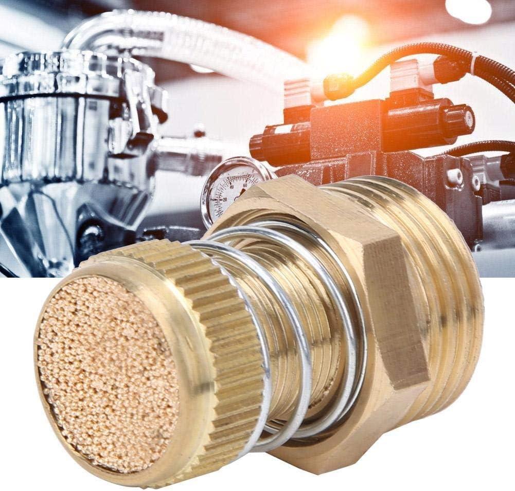 Beennex 10PCS Brass Pneumatic Muffler BSPT Male Thread Solenoid Valve Silencer Air Exhaust Connector
