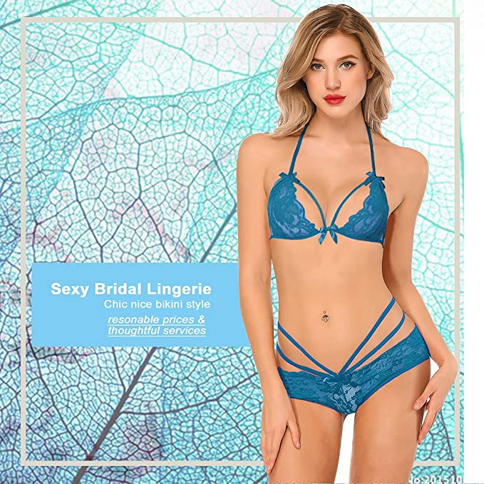 11a203c3aa5a SESY - Set Neck Holder Lencería Mujer Sexy Bikini Punta BH Lingerie ...