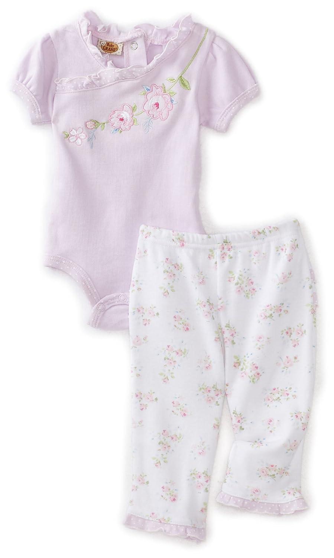 989024881151 Baby Grand Baby-Girls Newborn Floral Ruffle Creeper and Pant Set