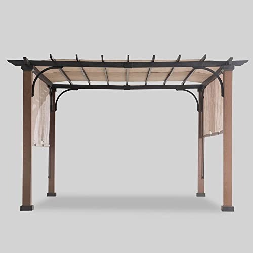 Sunjoy 110105005 Pergola, Black Brown