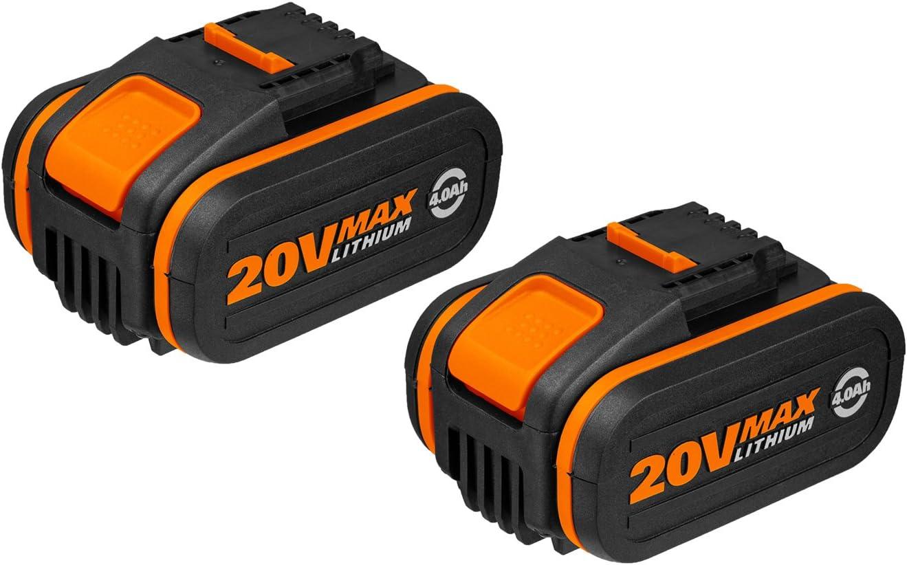 Worx WA3553.2 Baterías, 80 W, 20 V, negro, Set de 2 Piezas
