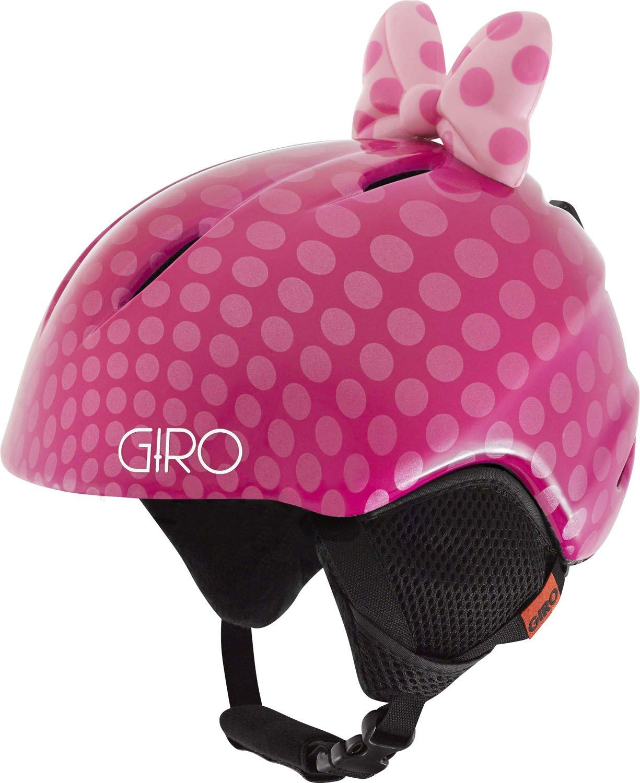 GIRO Kinder Skihelm Ski Helm Launch Plus Polka Dots Schleifchen pink bow