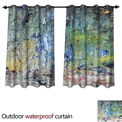 Amazon Com 0utdoor Curtains For Patio Waterproof Abstract
