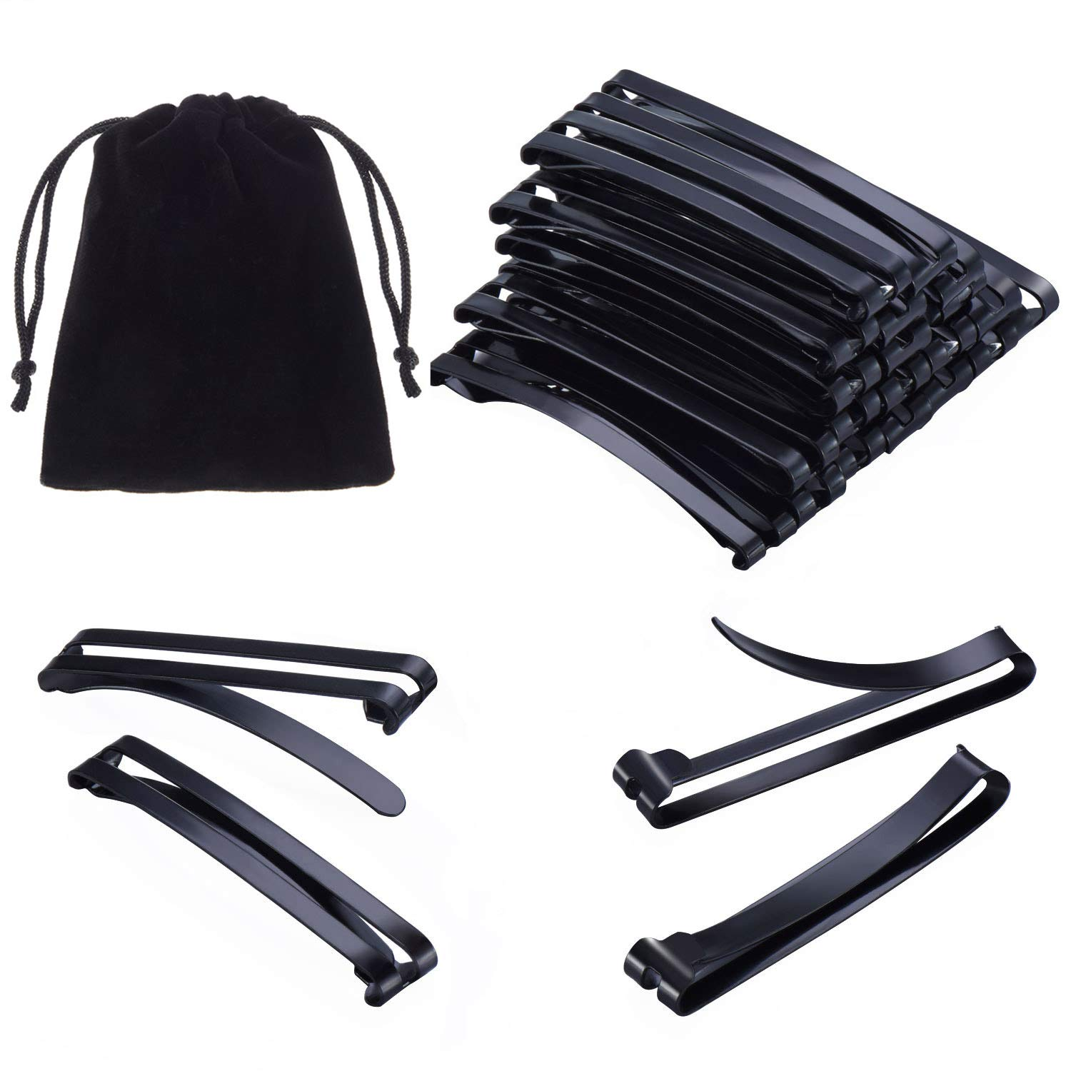 Fanrel Pack of 24 Metal Hair Barrettes Clips No-slip Grip Stay Tight Barrettes for Girls and Women, Black : Beauty